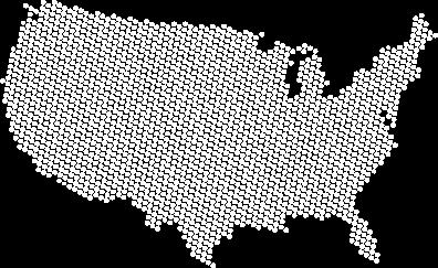 Illustration of continental United States