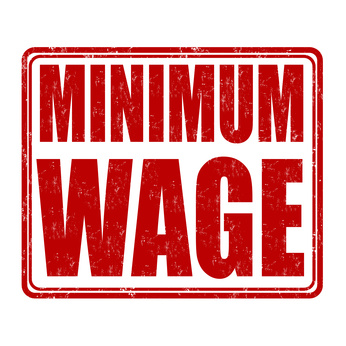 Minimum wage stamp