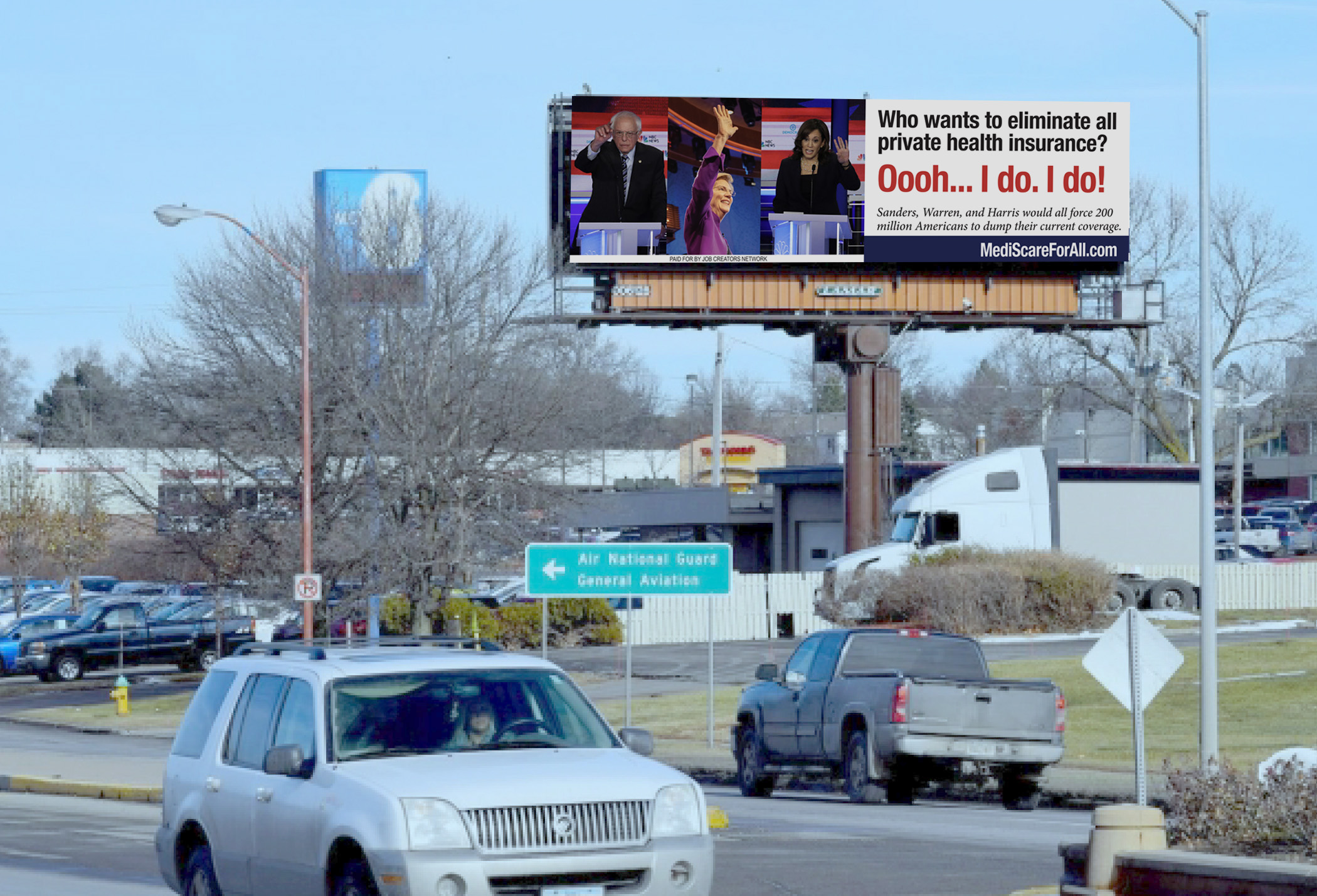 Job Creators Network Puts Up Billboard in Des Moines Attacking